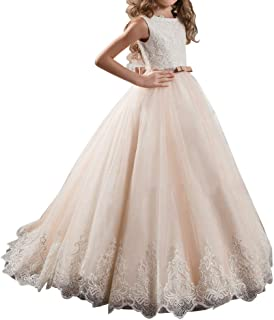 Pink Secquin Flower Girl Pageant Birthday Communion Dresses for Wedding