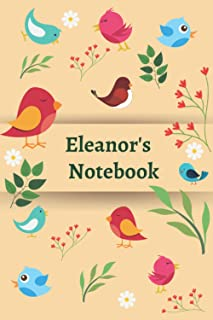 "Eleanor's Notebook: 120 Lined pages, (6""x 9""), Personalised Notepad, Note Pad, Notes, Birthday Present"