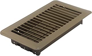 Accord ABFRBR48 Floor Register with Louvered Design, 4-Inch x 8-Inch(Duct Opening..