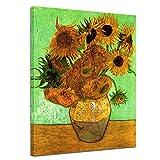 Wandbild Vincent Van Gogh Zwölf Sonnenblumen - 40x50cm