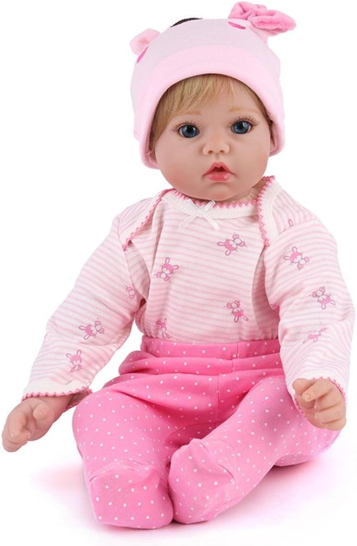 LINAG Babypuppen Reborn Baby Vinyl Silikon Weich Lebensechte Realistische Wirkendes Neugeborene Wiedergeboren Spielkameraden 50cm Spielhausspielzeug Simulation Mdchen Geschenk