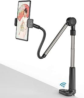 アームスタンド タブレット スタンド アーム スマホスタンド ipadスタンド ベッドサイド Bluetoothリモコン付き 俯瞰撮影 折畳み式 寝ながらスマホアームスタンド 360回転 角度・高さ調整可能 4.6~11インチのスマートフォン&...