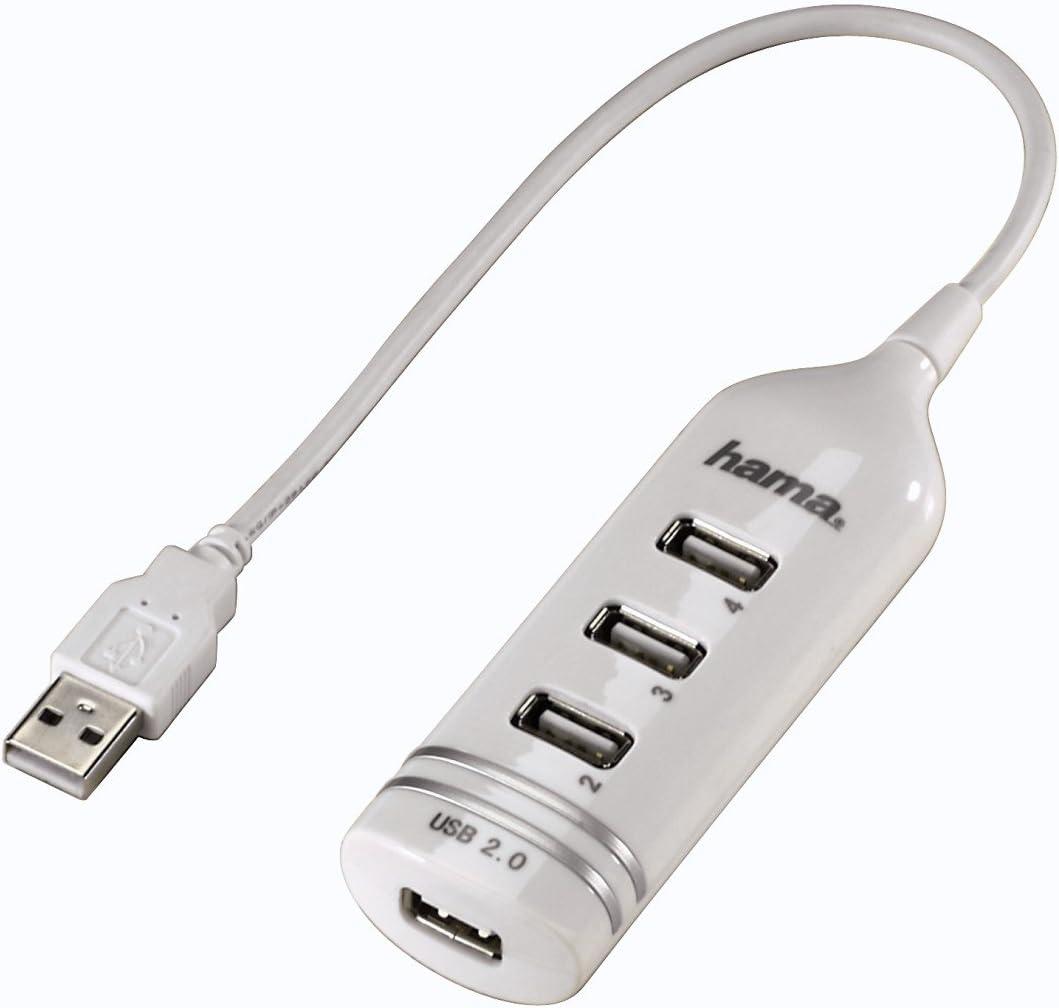 HAMA HUB USB 2.0 ULTRA SLIM. 4 PORTE. BIANCO
