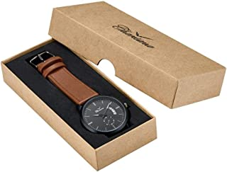 Charisma Analog Leather Watch For Men - Brown