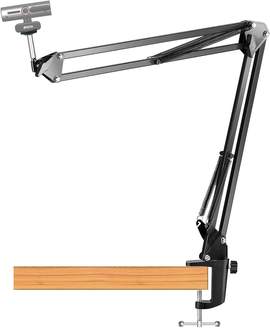Flexible and Adjustable Suspension, Boom Scissor Long Arm Swivel Holder for Webcam C922 C930 C920