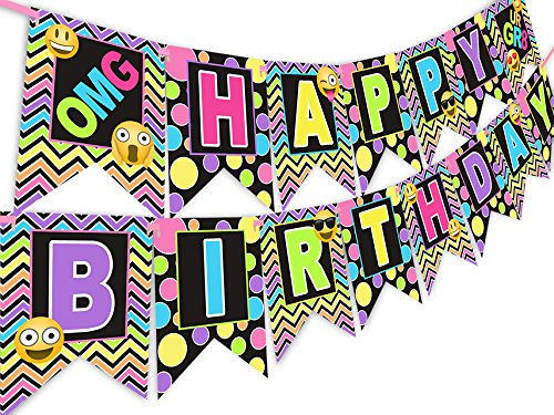 Tween - Teen Emoji Birthday Banner
