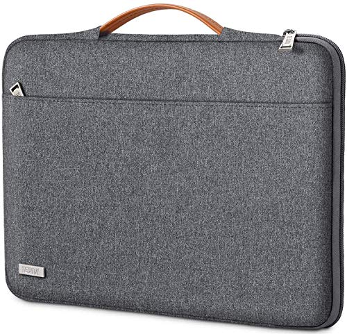 TECOOL Laptop Hülle Tasche für 14 Zoll Lenovo Thinkpad Ideapad HP Acer Dell Notebook Chromebook, 15 Zoll Surface Laptop 3, MacBook PRO 15 Schutzhülle Notebooktasche mit Handgriff, Dunkelgrau