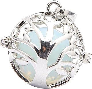 joyMerit Cuivre Arbre de Vie Cage Médaillon Diffuseur D'huile Essentielle Perles Cage Pendentif Charmes Pendentif avec Per...