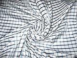 Blau, Grau & Weiß Plaids Seide Taft Stoff