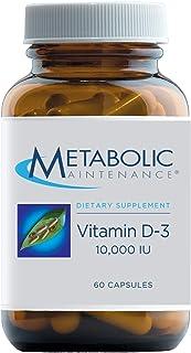 Metabolic Maintenance Vitamin D-3 10,000 IU - Superior Absorption D3 with Vitamin C - Bone, Immune, Mood + Cardiovascular ...