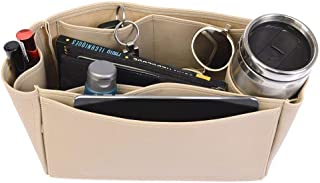 Bayswater Deluxe Leather Handbag Organizer in Dark Beige Color, Leather bag insert for Mulberry Bayswater, Express Shipping