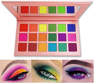 Matte Eyeshadow Palette, FindinBeauty 18 Bright Colors Highly Pigmented Makeup Eye Shadow - Professional Vegan Long lasting No Shimmer Silky Powder Rainbow Shades Cosmetics Set(Colorful)