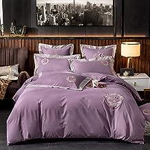FACAI Bedding Sets Double Size Cotton, Cotton Double Duvet Covers Set White, Bedding Sets King Size 100% Cotton Bedding Set Duvet Covers Double Bed Quilt Cover 220×240cm Twin Blue Pink Purple Gray