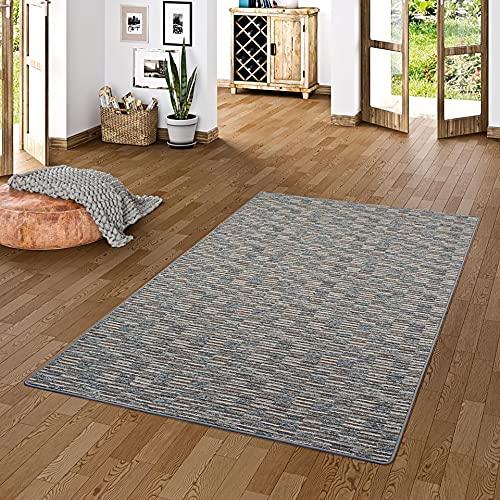Snapstyle Streifenberber Teppich Modern Stripes Anthrazit in 24 Größen
