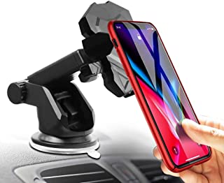 Phone Holder for Car, MANORDS Universal Long Neck One Touch Car Mount Holder Compatible iPhone Xs XR X 8 8 Plus 7 7 Plus Samsung Galaxy S10 S9 S8 S7 LG Nexus Sony and More