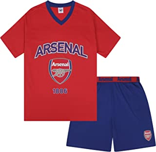 e3ff4898 Arsenal FC Official Football Gift Mens Short Pyjamas Loungewear
