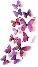 Taloit 12 STKS 3D Vlinders Muurstickers Muur Art Decor, Verwijderbare Muurschildering Dier Decal Art Decor voor Thuis Woon...