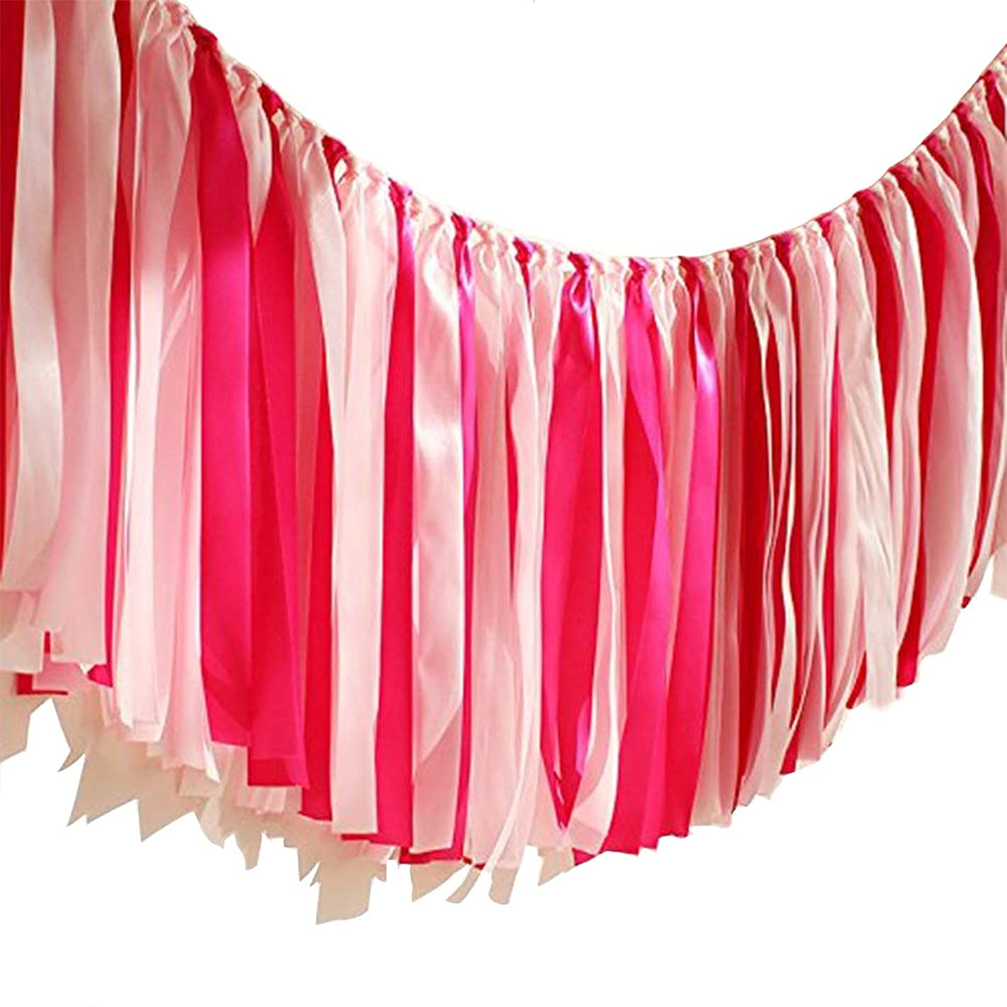 Handmade Colorful Ribbon Tassel Garland Already Assembled for Wedding Baby Shower Event Birthday Party Supplies Decoration 40