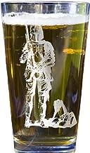 Boba Fett Star Wars Collectible Pint Glass - Heat Treated Engraved Barware