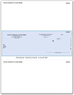 CheckSimple Laser Business Checks, Middle Format - Sage50 Payroll Software (100 Qty) - Custom