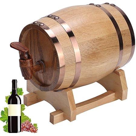 Barril de Envejecimiento de Roble, Mini Portátil Hogar de Madera de Roble Barril de Vino Barril Equipo de elaboración de cerveza casera Edad Whisky ...