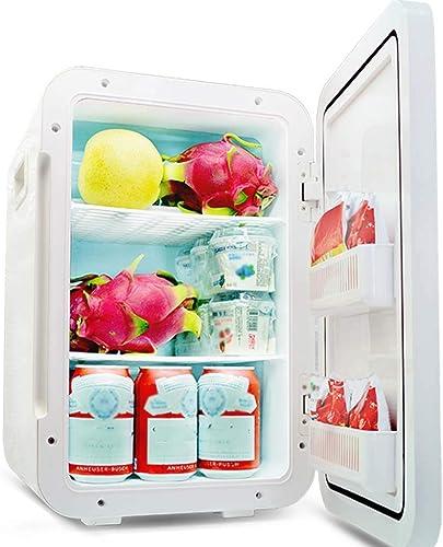 ZLL Car Fridge-Mini Fridge 22L Dual-Core Mute Reefer Affichage numérique Cooler Box (Home Office et utilisation de la voiture),argent