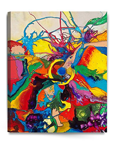 DECORARTS - Abstract Painting, Abstract Wall Art. Giclee Print On Acid-Free Cotton Canvas, Stretched Canvas Gallery Wrapped, Easy to Hang. 24x30 x1.5 24 X 30 Giclee Canvas