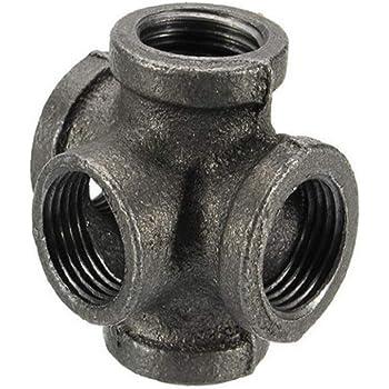 "1//4/"" BSP Union Female//Female galvanised Black Malleable Iron Pipe Fitting"