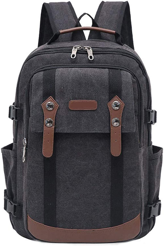 DHFUD Backpack Travel Bag Retro Travel Highcapacity Canvas Computer Bag Student Bag