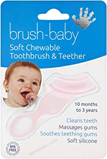 Brush-baby Soft Teether Brush for babies and toddlers -