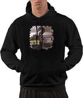 Men's Ben Folds Rockin The Suburbs Fashion Long Sleeve Hooded Sweatshirt Tops with Pocket Black