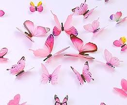 kakuu 36PCS Butterfly Wall Decals - 3D Butterflies wall stickers Removable Mural decor Wall Stickers Decals Wall Decor Hom...