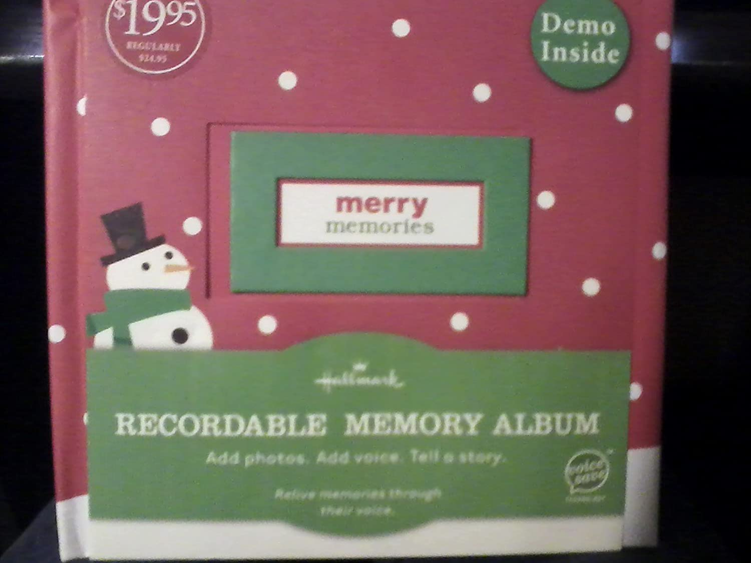 XOX7000 Very Merry Moments Hallmark Recordable Memory Album