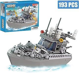 Army Toys Battleship Building Blocks Coast Guard Warship...