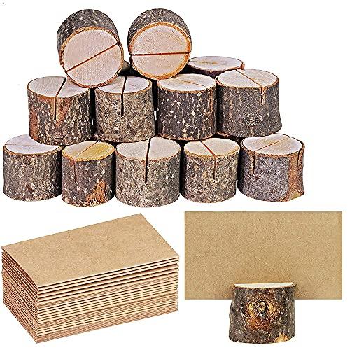 LAVECAR Soportes para tarjetas de madera, 30 soportes para números de mesa...