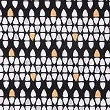 Lillestoff Bio French Terry organic Zigazag schwarz weiß