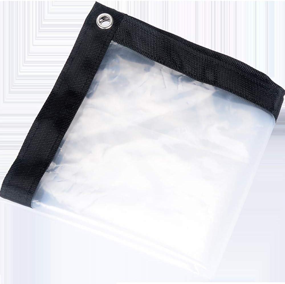 OLANZH Clear Waterproof Cover Tarp, 6.5x13ft Dustproof Rainproof Tarpaulin Sheet Ground Sheet Covers Anti-Aging Insulation PE for Garden Furniture Cars