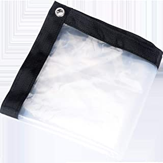 OLANZH Clear Waterproof Cover Tarp, 6.5x13ft Dustproof Rainproof Tarpaulin Sheet Ground Sheet Covers Anti-Aging Insulation...