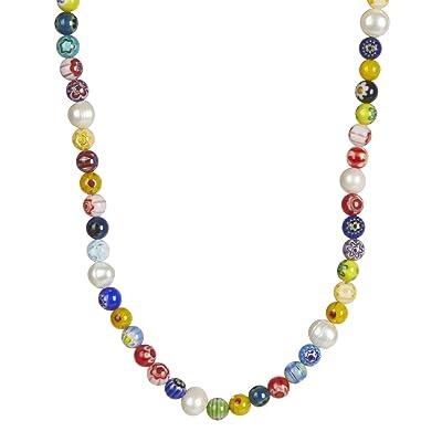 Rebecca Minkoff Rainbow Bead Collar Necklace (Multi) Necklace