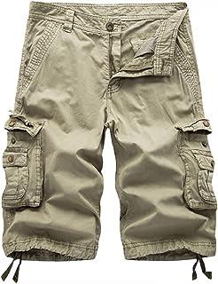 XueYin Women's Cotton Relaxed Fit Casual Wear Muti-Pocket Plus Size Cargo Shorts No Belt