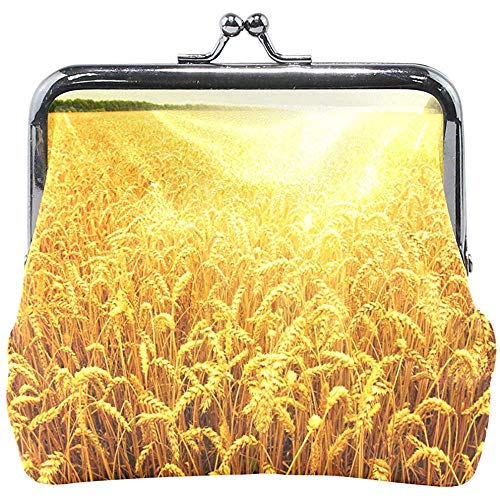 Orzo Harvest Sunset Portafoglio Fibbia Portamonete Portamonete Vintage Fashion PU Porta Carte...
