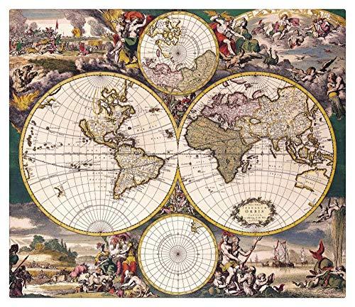 TWYYDP Puzzle 1500 Piezas,Adulto Puzzle,Rompecabezas De Madera, Niños O Amigos - Mapa del Mundo Antiguo