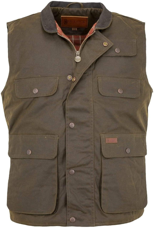 Outback Trading Company Men's 2153 Overlander Waterproof Breathable Cotton Oilskin Outdoor Vest