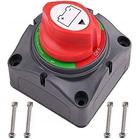 Dedc 12v 24v Batteriehauptschalter Batterie Trennschalter Aufbauschalter Umschalter Für Auto Boot Lieferwagen Wohnwagen Auto
