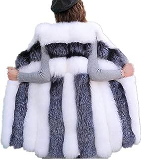 女式长款人造狐狸毛背心女士冬季时尚人造毛皮背心夹克女士厚实保暖毛皮背心外套