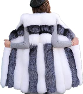 Women Long Artifical Fox Fur Vest Women Winter Fashion Faux Fur Vest Jacket Woman Thick Warm Fur Vest Coat