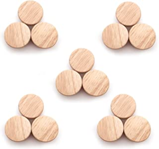 SNOWINSPRING 15Pcs Home Accessory 50X25mm Wooden Knob Wood Round Pull Knobs for Cabinet Drawer Shoe Box Cupboard Cabinet Door