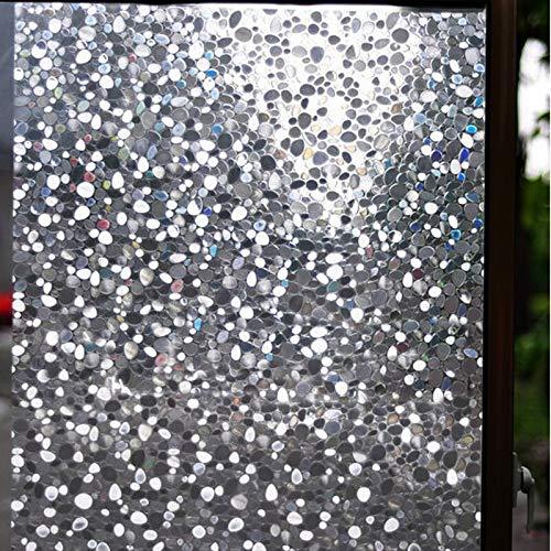 3D Laser Sunshine Cobblestone Window Sticker Translucidus Opacitas Static Window Film Sticker Thicken Home Decoration Film A190 45x200cm