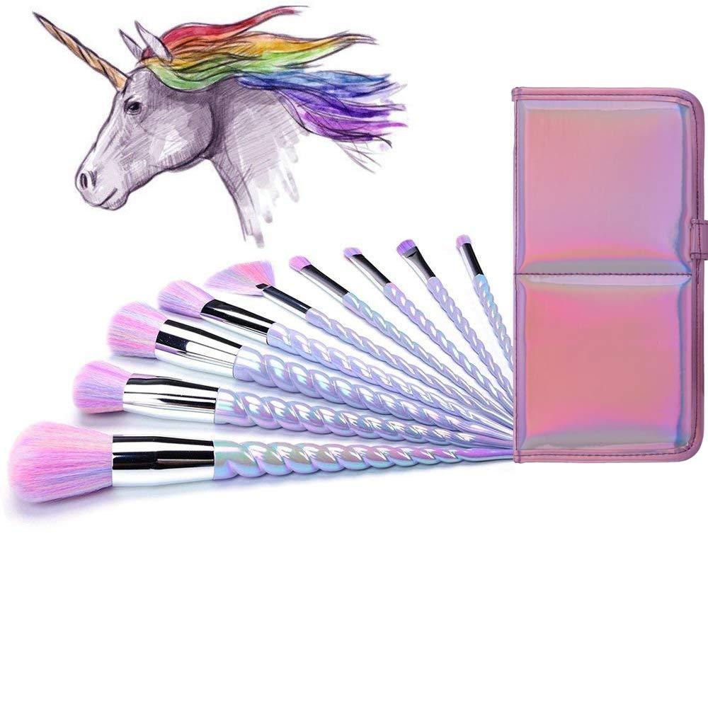 AMMIY Unicorn Overseas parallel import regular item Makeup Brushes 10pcs shipfree Bristles Colorful Unicor With