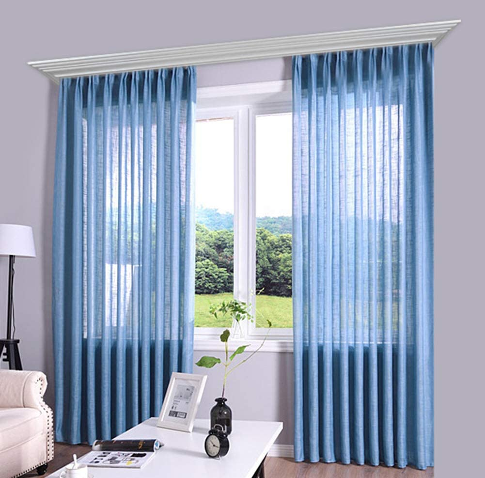HooHero Simple Sheer Outstanding Window Curtains Rod Pocket Voile 55% OFF Gauze Top